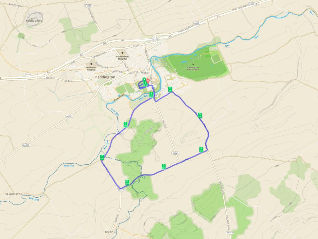 Haddington 10K Road Race Course